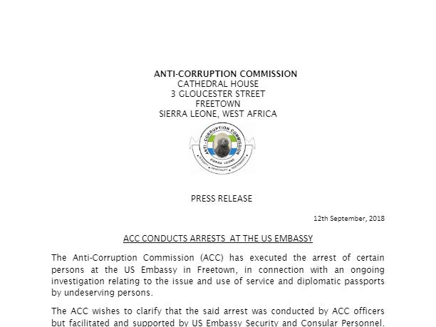Anti Corruption Commission Sl
